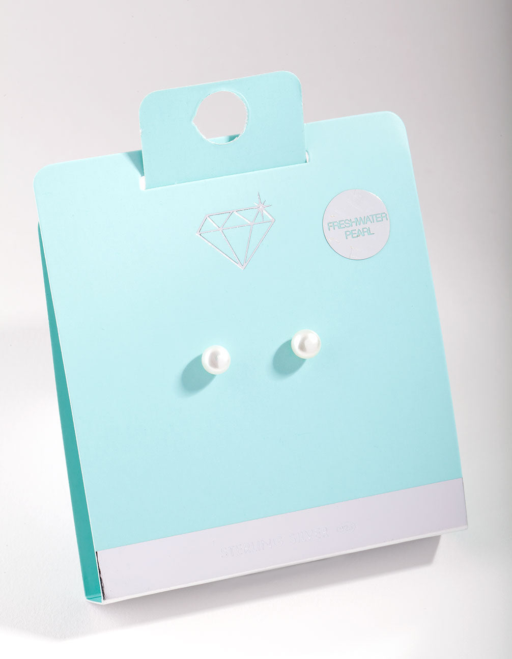 Sterling Silver 5mm Freshwater Pearl Stud Earrings