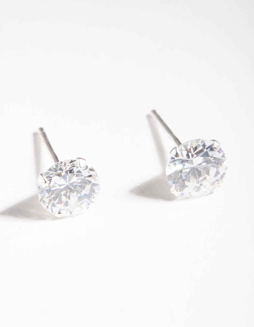 6.5mm Diamond Simulant Stud Earrings