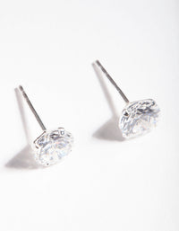 6.5mm Diamond Simulant Stud Earrings - link has visual effect only