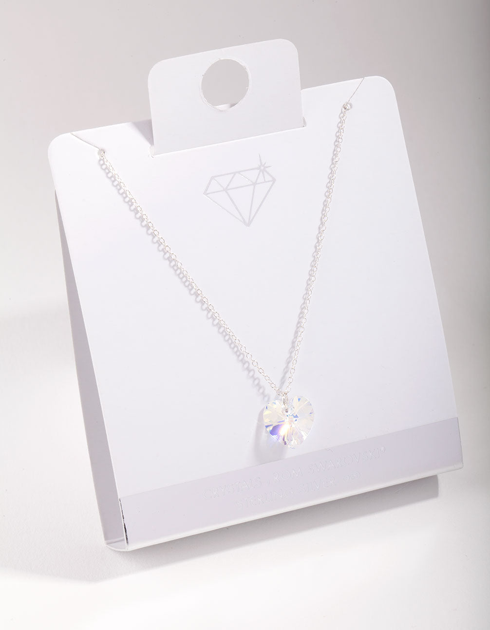 Sterling Silver Swarovski Crystal Heart Pendant Necklace
