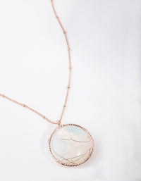 Rose Gold Long Caged Moonstone Necklace - link has visual effect only