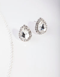 Silver Pear Crystal Jewellery Set - link has visual effect only
