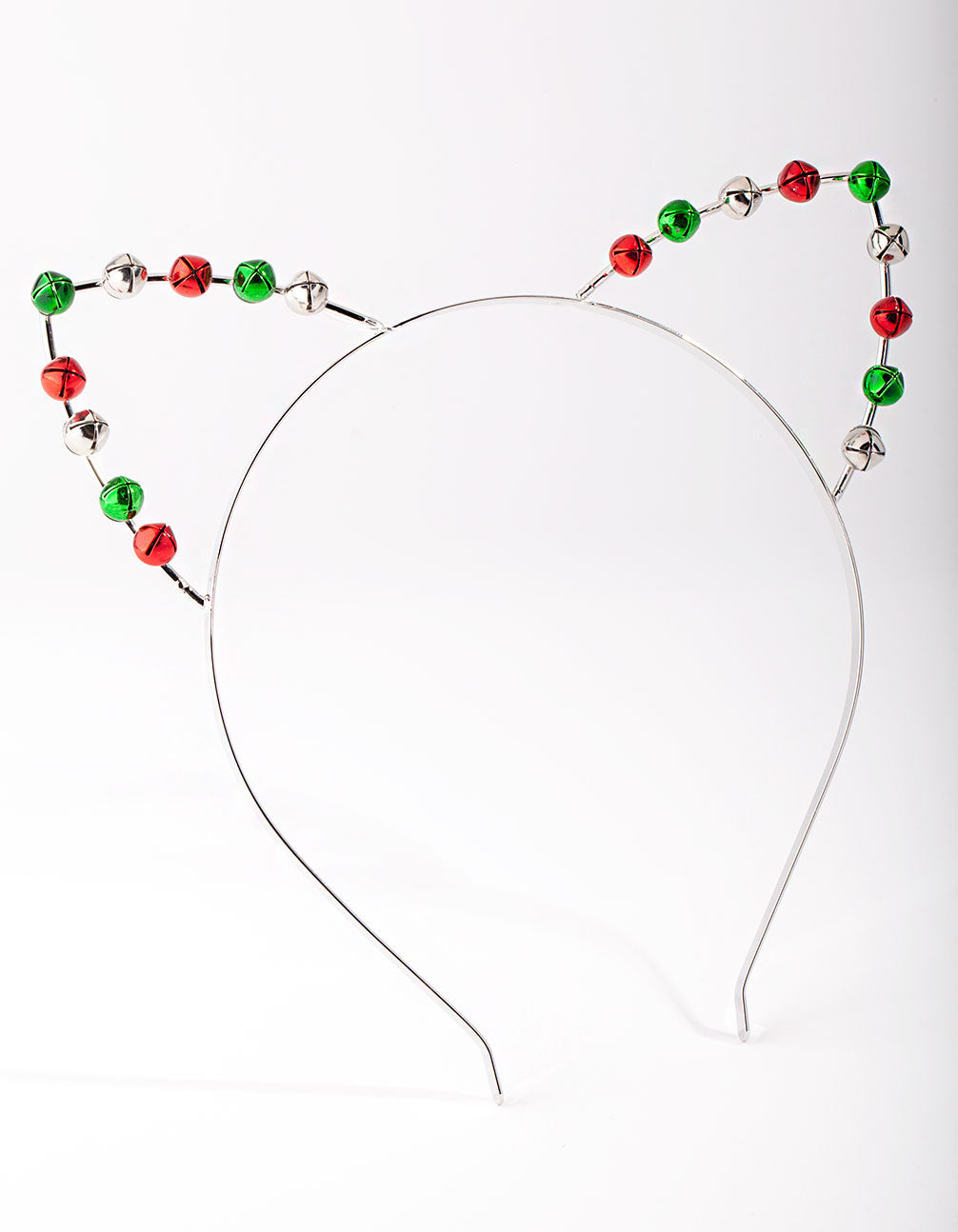 Rhodium Christmas Cat Ear Bells Headband