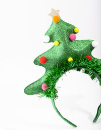 Green Oversized Christmas Tree Headband - link has visual effect only