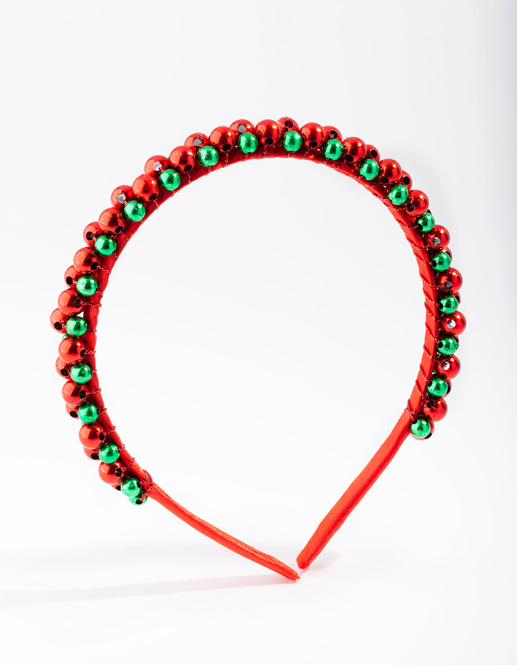 Red and Green Christmas Bells Headband