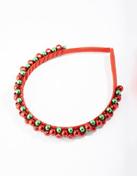 Red and Green Christmas Bells Headband - link has visual effect only