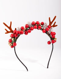 Reindeer Wreath Headband - link has visual effect only