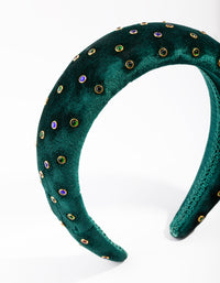Green Jewel Padded Headband - link has visual effect only