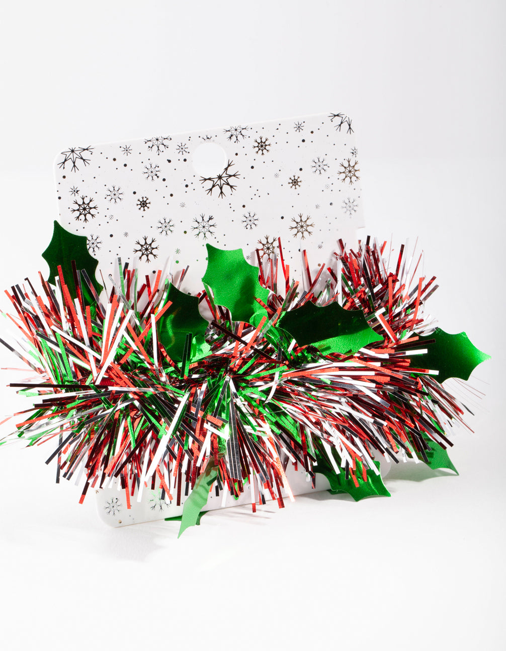 Red and Green Tinsel Scrunchie
