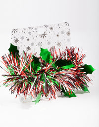 Red and Green Tinsel Scrunchie - link has visual effect only