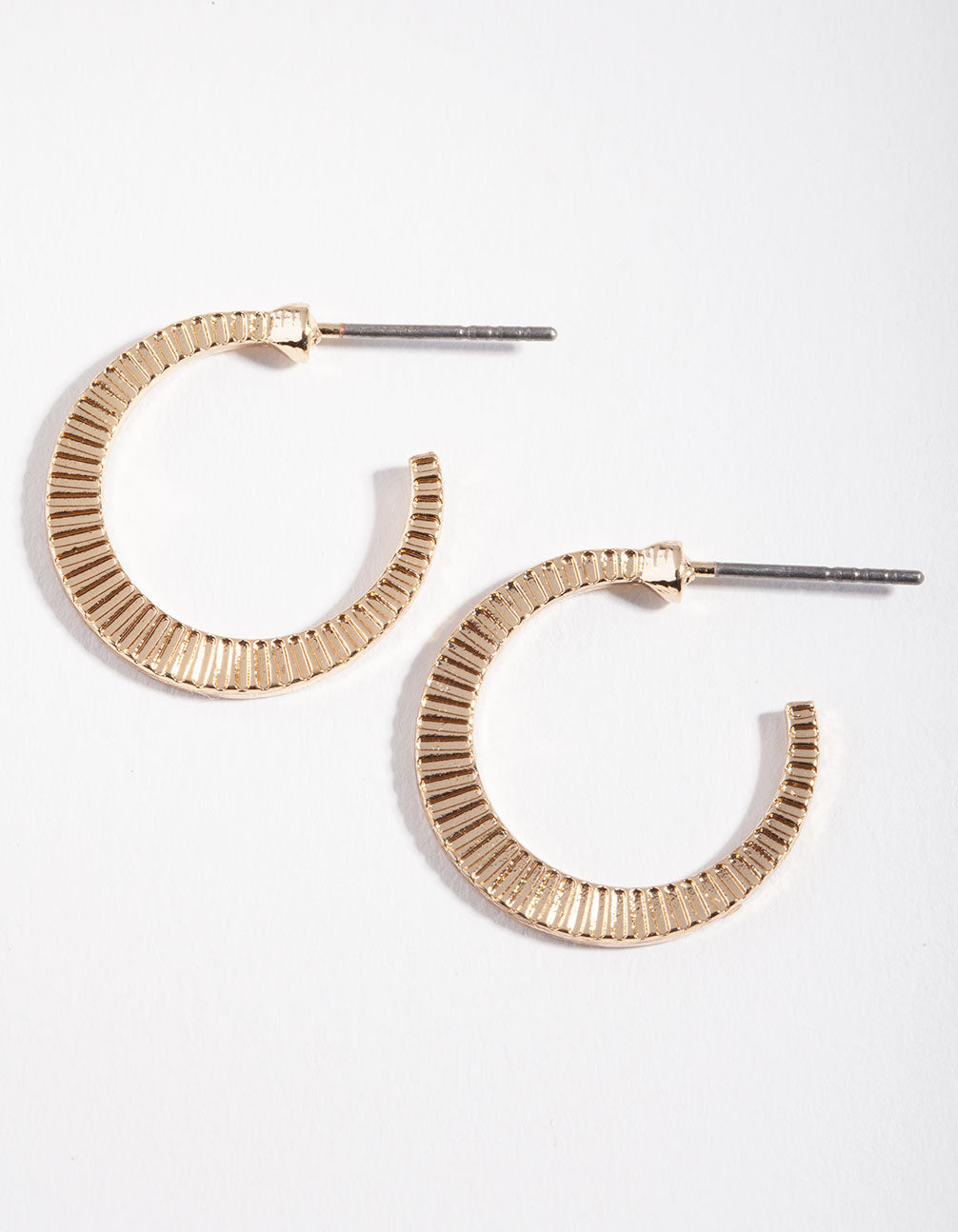 Gold Lined Open Hoop Earring