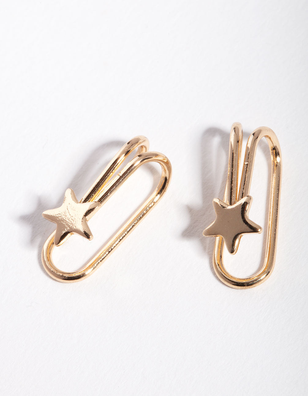 Gold Star Cuff Earring 2 Pack