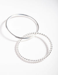 Sterling Silver Plain and Twisted Russian Ring - link has visual effect only