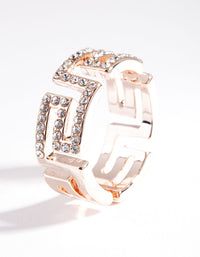 Rose Gold Diamante Maze Cut Out Ring - link has visual effect only
