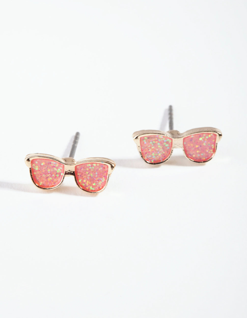 Kids Gold Peach Glasses Earrings