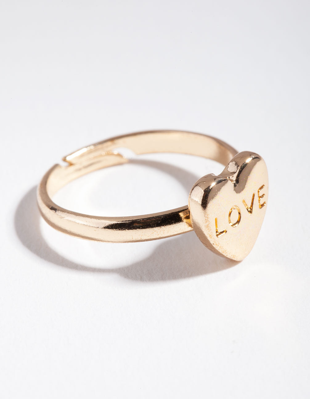 Kids Gold Love Heart Ring