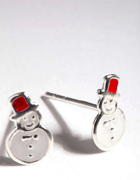 Sterling Silver Enamel Snowman - link has visual effect only