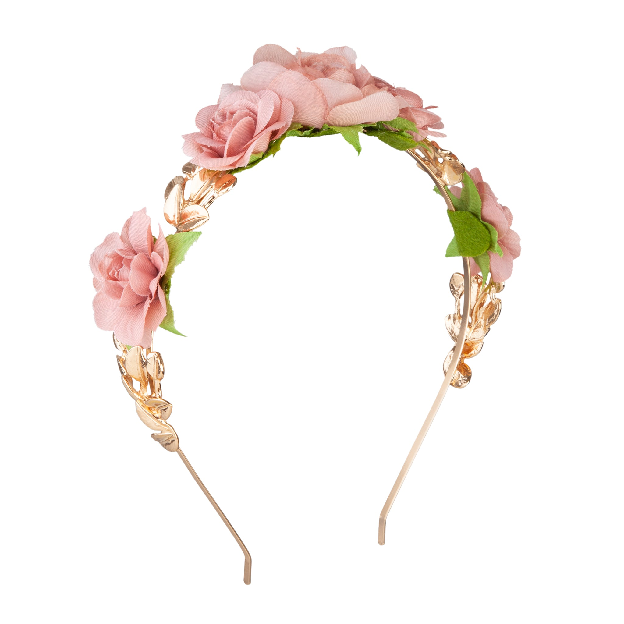 Mix Pink Rose Leaf Headband