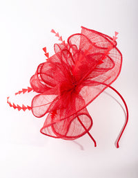 Red Triangle Feather Fascinator - link has visual effect only