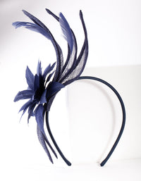 Navy Flower Swirl Headband - link has visual effect only