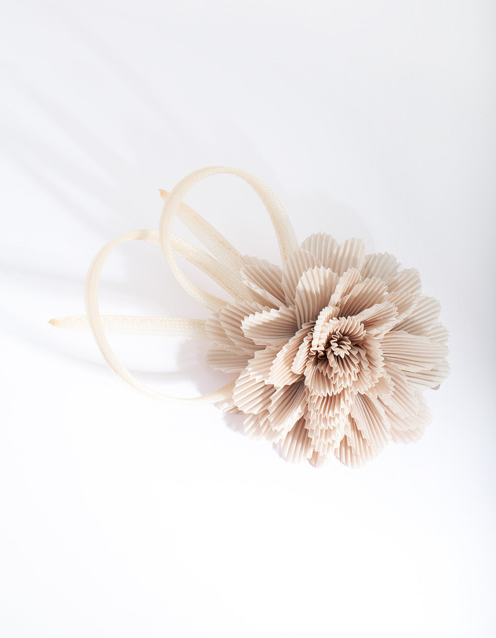 Taupe Crinkled Flower Clip