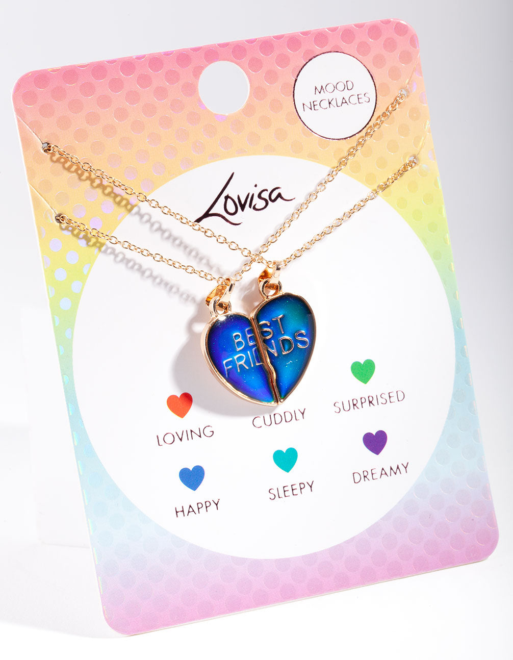 Kids Mood Heart BFF Necklace 2 Pack