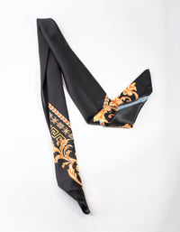 Black and Gold Medusa Print Scarf - link has visual effect only