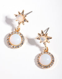 Gold Celestial Star Diamante Earring - link has visual effect only