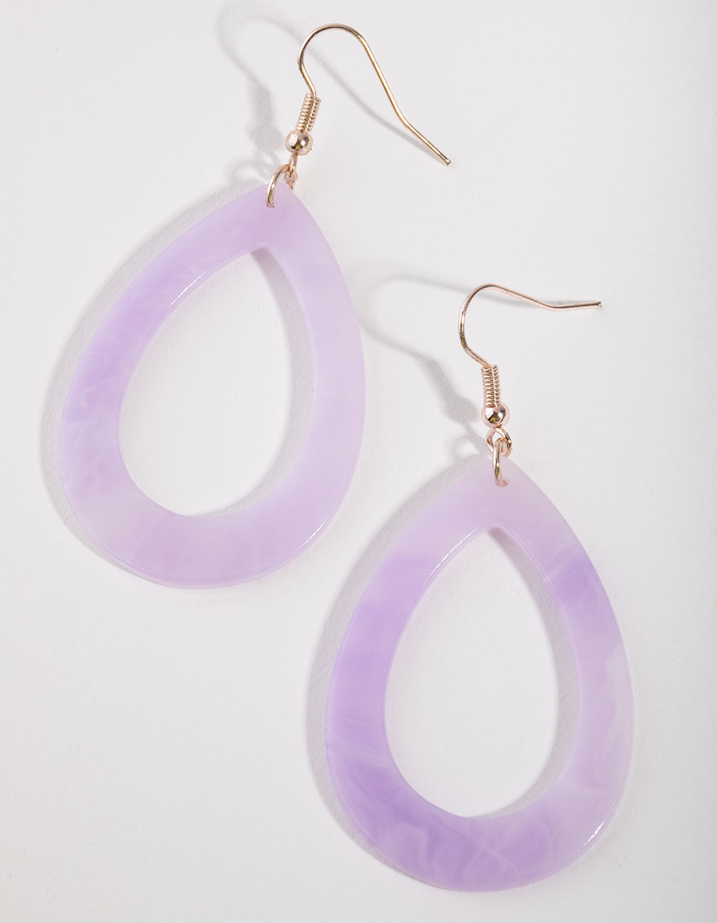 Rose Gold Acrylic Tear Drop Earrings