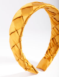 Yellow Satin Flat Plait Headband - link has visual effect only