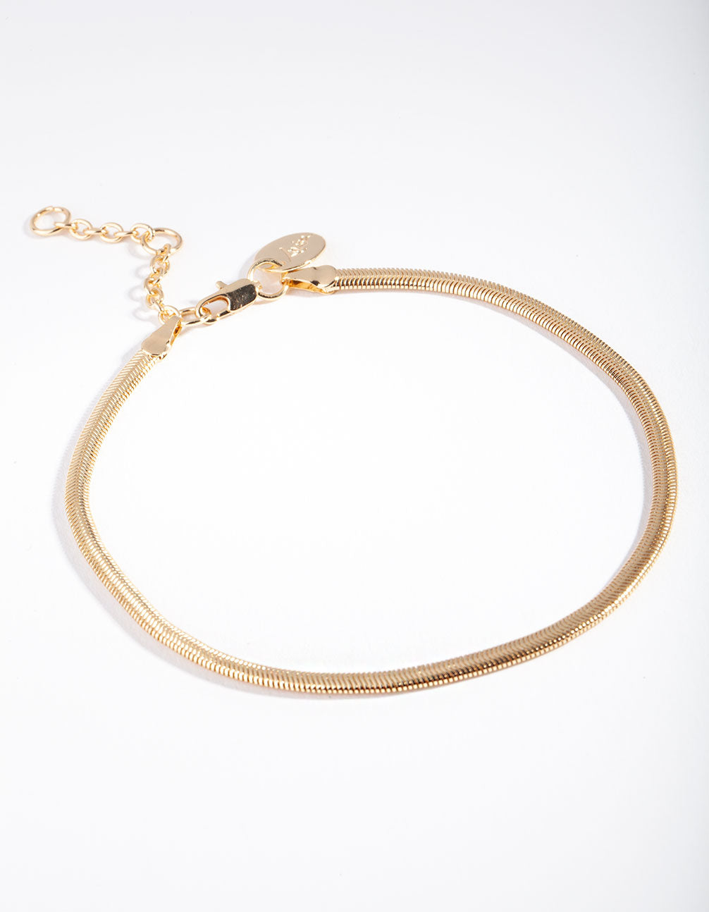 Real Gold Plated Snake Chain Anklet