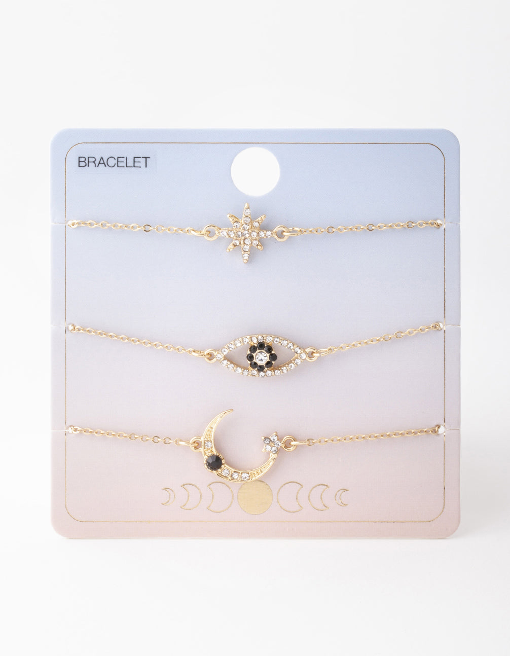 Gold Star and Moon Bracelet 3 Pack
