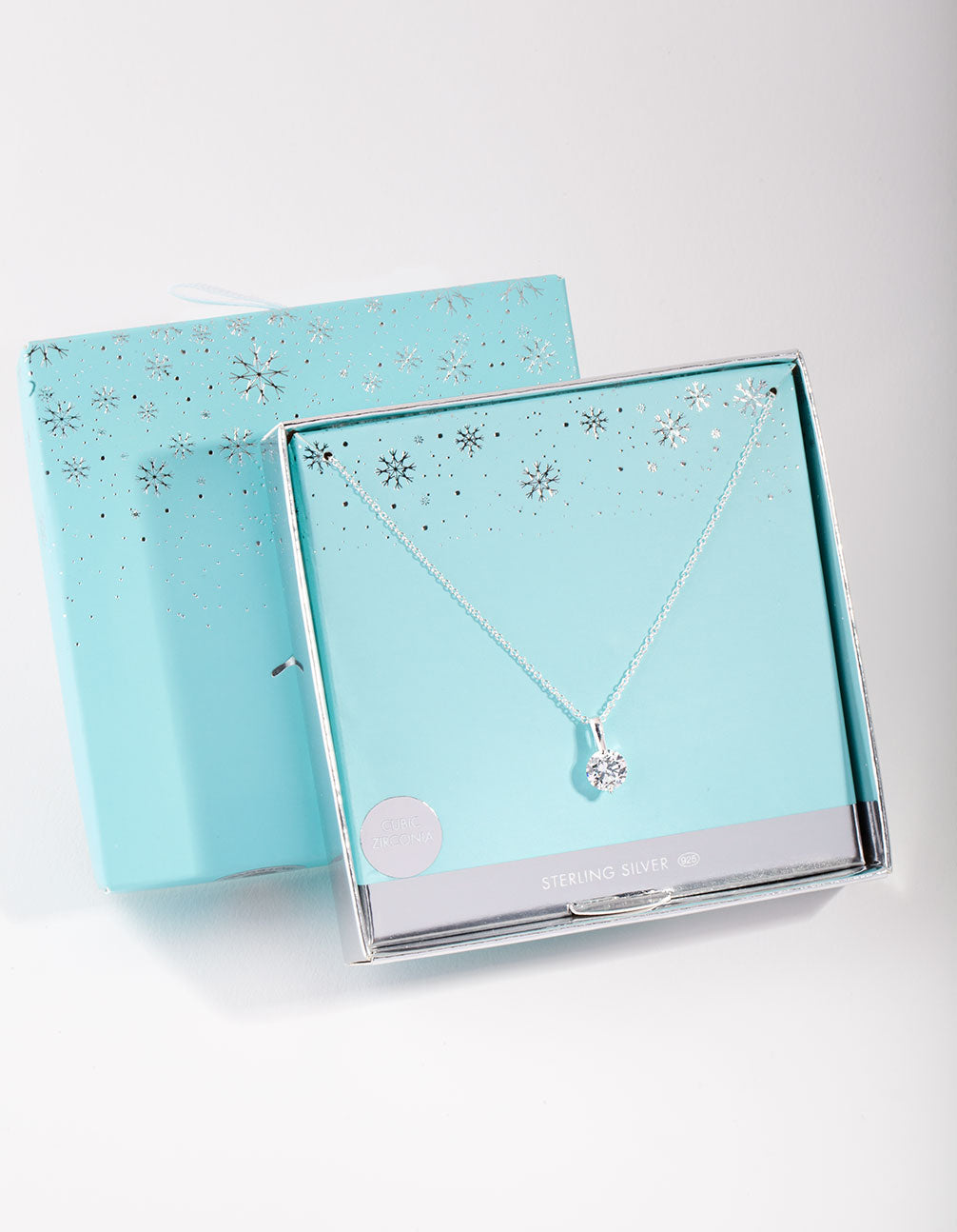 Sterling Silver Cubic Zirconia Sleek Bale Necklace