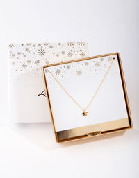 Gold Plated Sterling Silver Star Necklace - link has visual effect only