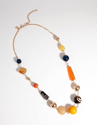 Gold Earthy Stone Long  Necklace - link has visual effect only