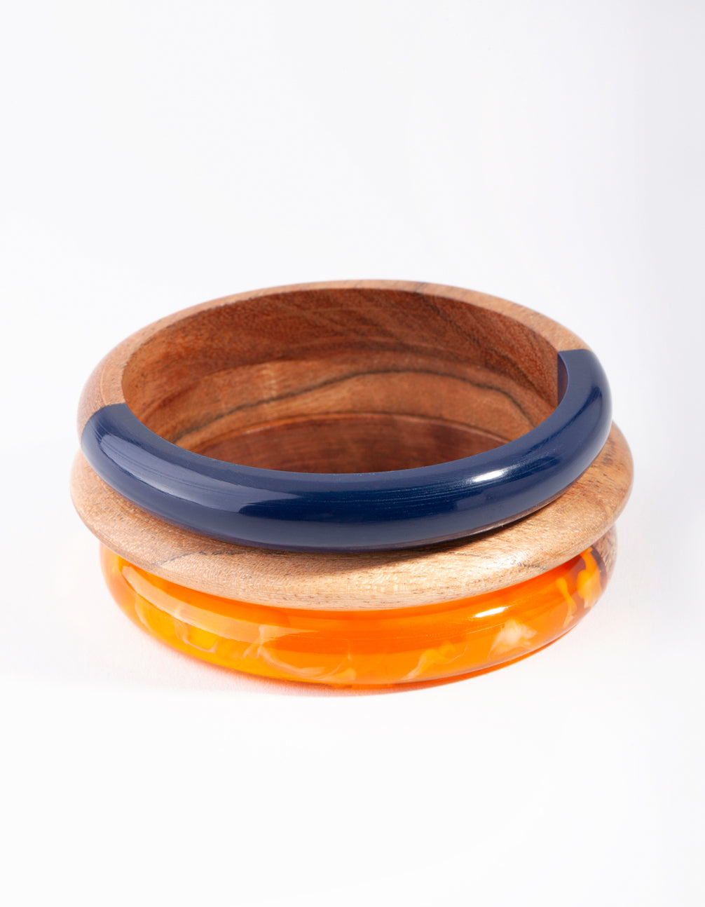 Wooden Spliced Bangle 3 Pack