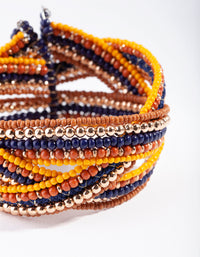 Multi Beaded Cuff Bracelet - link has visual effect only