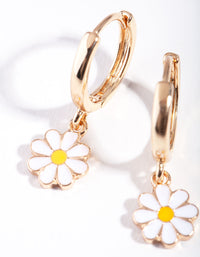 Gold Daisy Huggie Earring - link has visual effect only