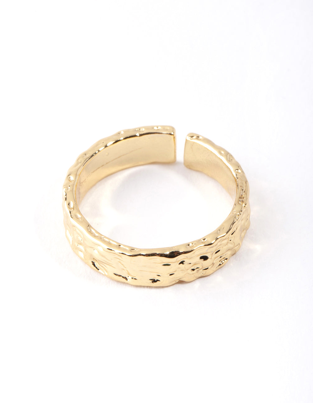 Real Gold Plated Molten Adjustable Ring