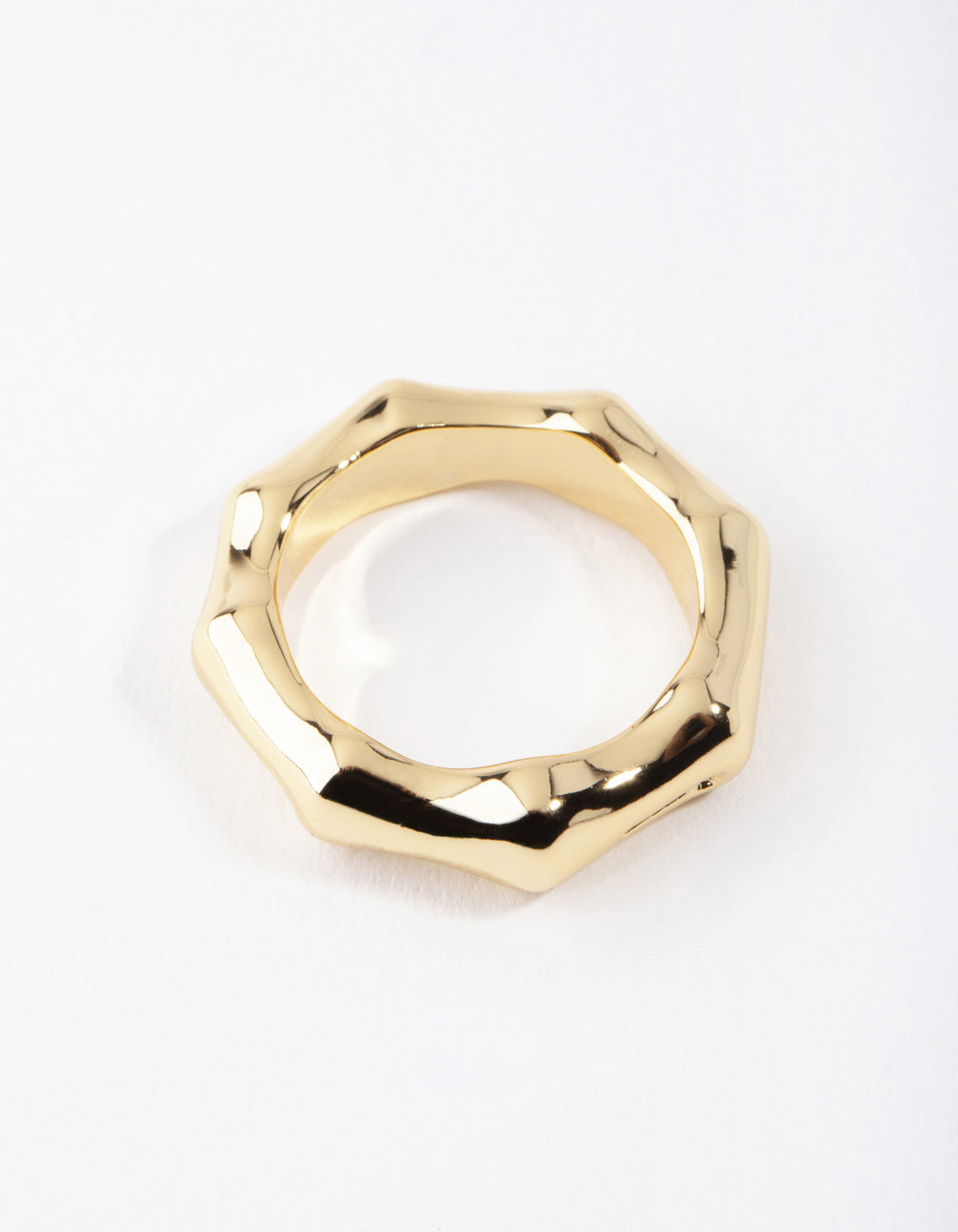 Real Gold Plated Bamboo Ring