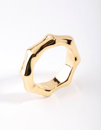 Real Gold Plated Bamboo Ring - link has visual effect only