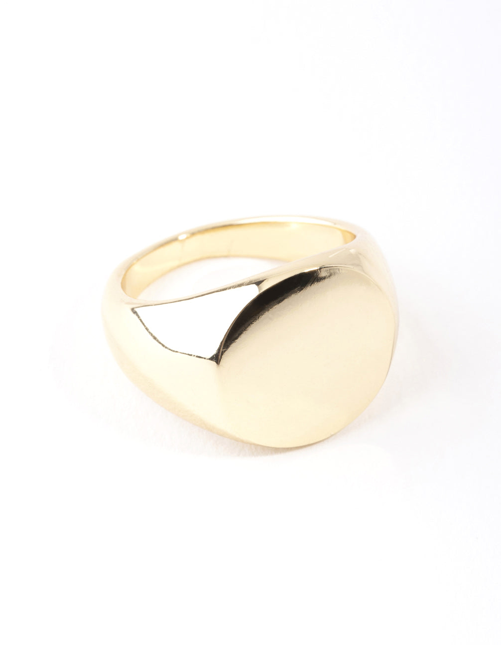 Real Gold Plated Plain Signet Ring