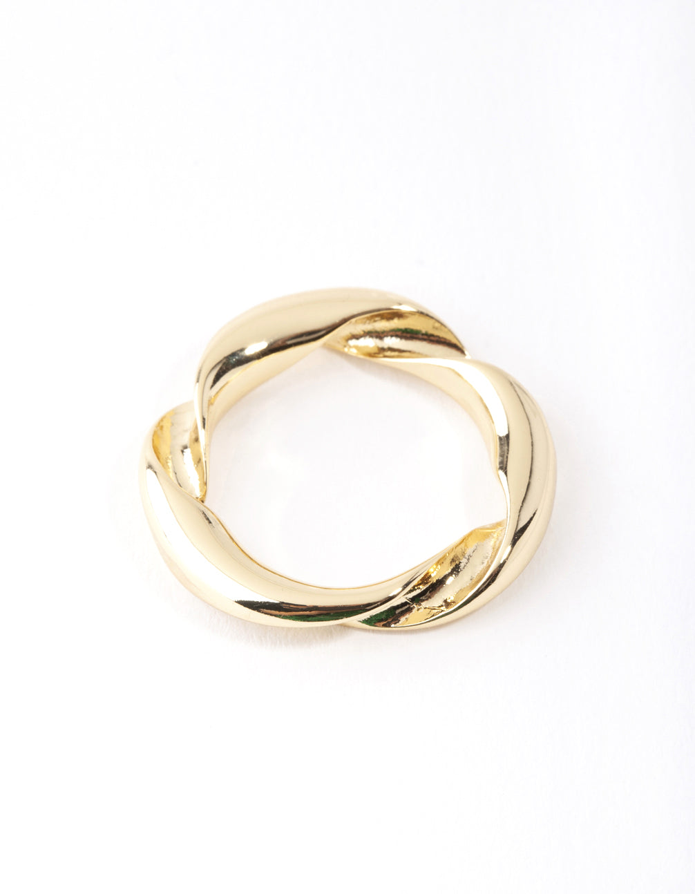 Real Gold Plated Twist Band Ring
