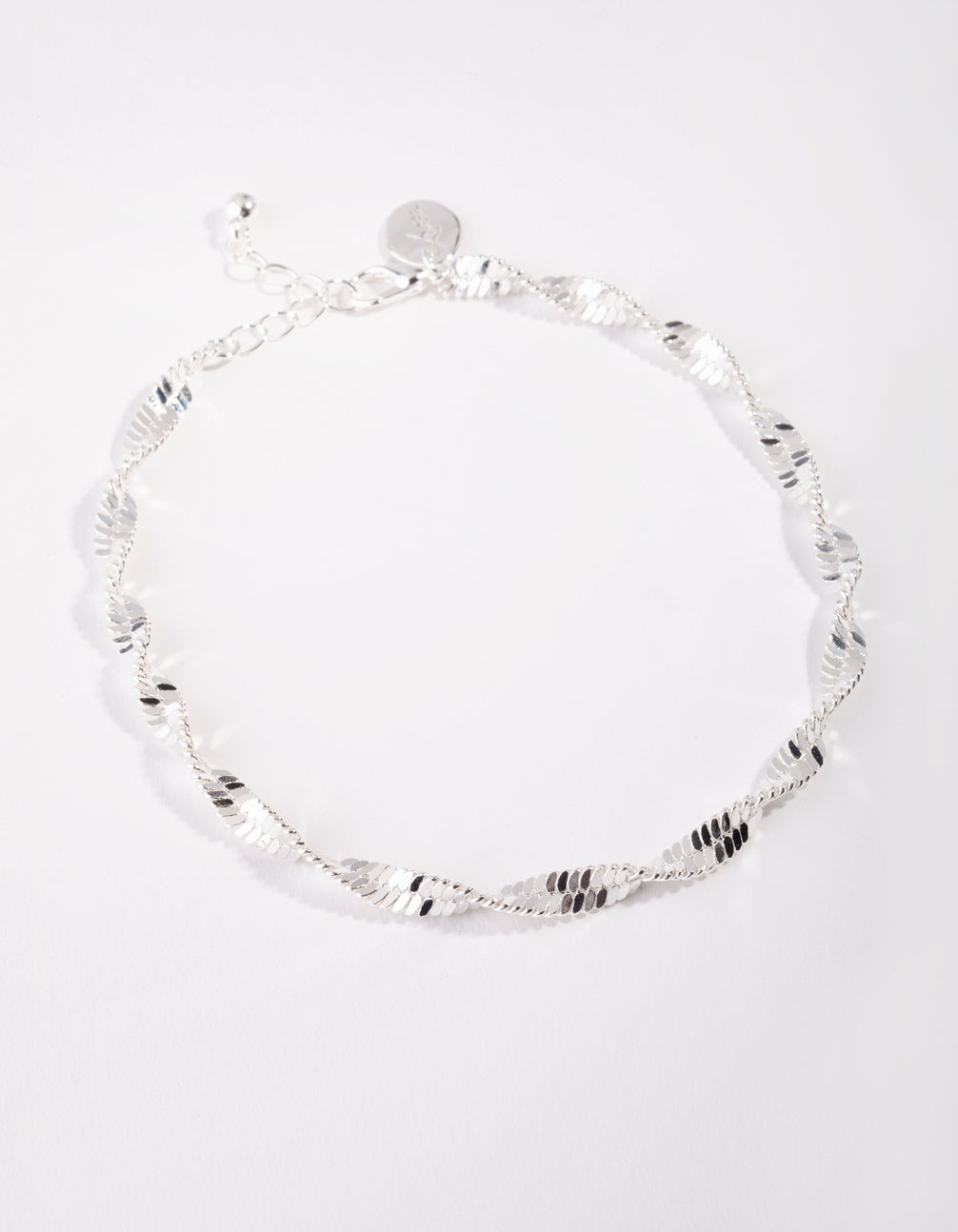 Silver Thick Singapore Chain Anklet