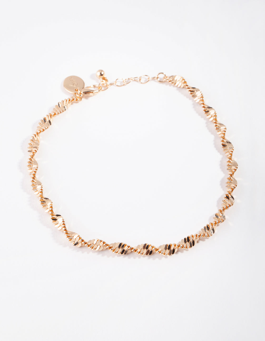 Gold Thick Singapore Chain Anklet