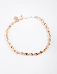 Gold Thick Singapore Chain Anklet - link has visual effect only