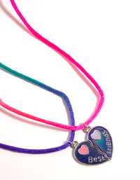 Silver Enamel Heart Mood Best Friend Necklace - link has visual effect only
