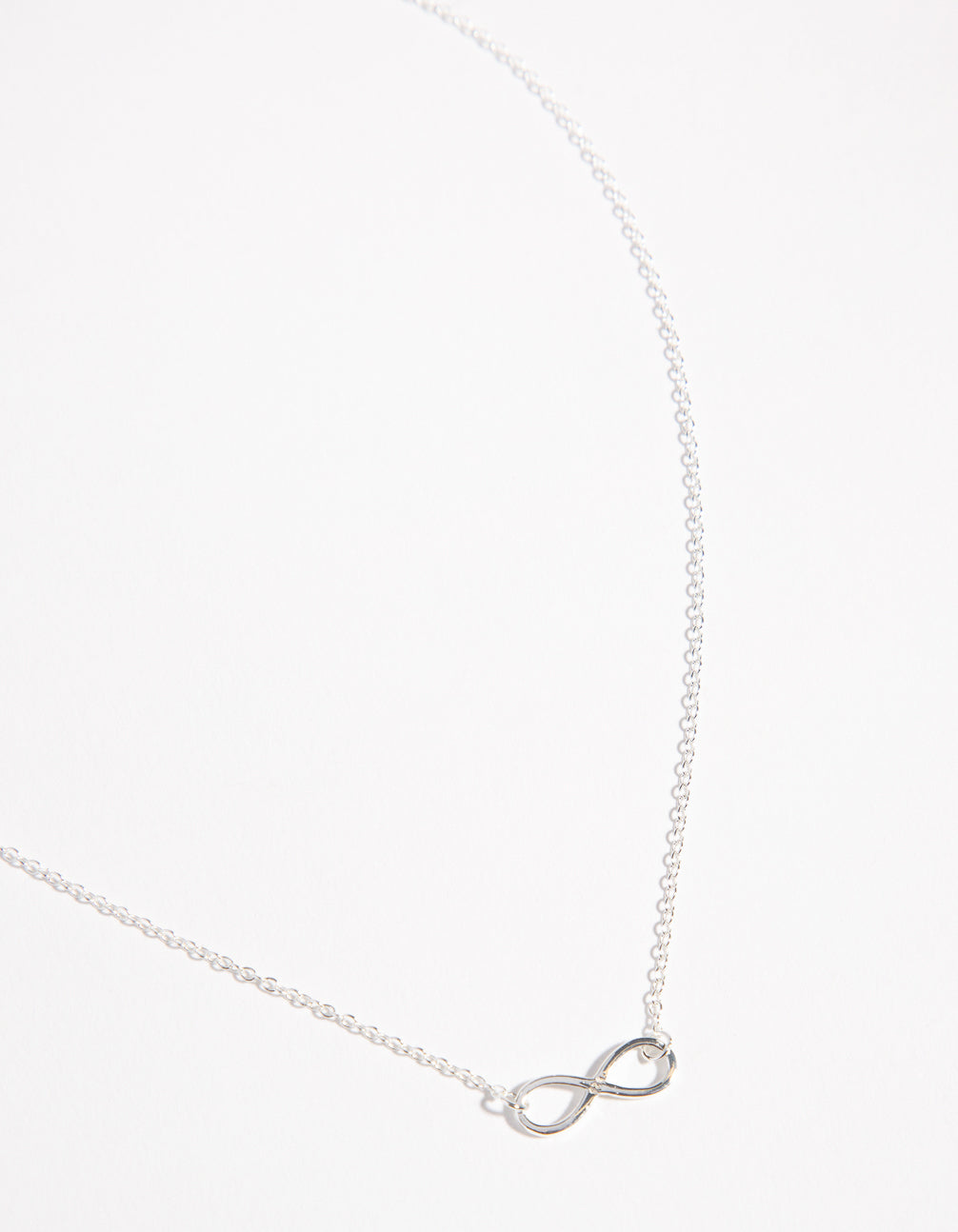 Sterling Silver Infinity 30cm Necklace