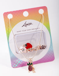 Rose Gold Make Your Own Fruit Necklace Giftbox - link has visual effect only