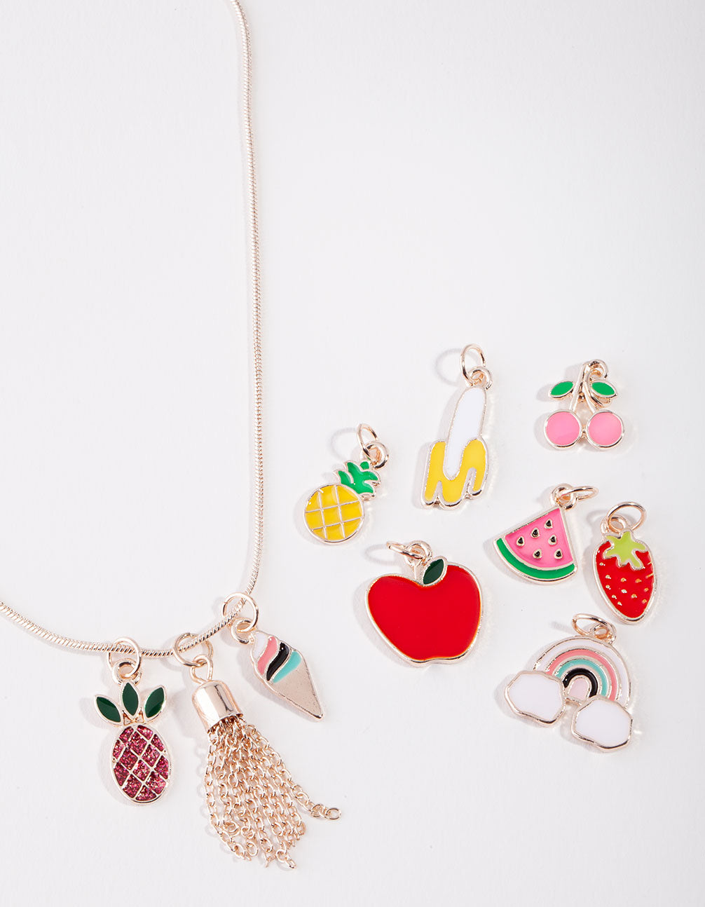 Rose Gold Make Your Own Fruit Necklace Giftbox